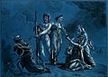 Aesculapius (representing medicine) routing death, Ceres (?) Wellcome V0007559.jpg