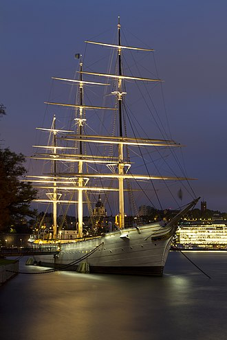 Af Chapman (ship) - Image: Af Chapman at Skeppsholmen in Stockholm City