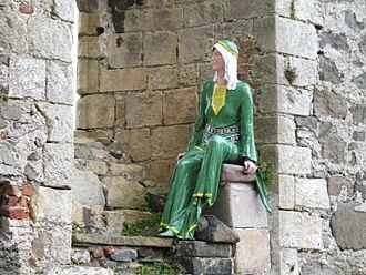 Affreca de Courcy - Mannequin of Affreca at Carrickfergus Castle.