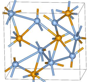 Silver(I) selenide - Image: Ag 2Sestructure