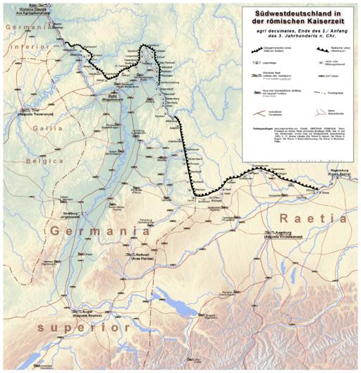 Agri decumates Karte