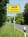 Aichtal - Ortsschild Aich.jpg