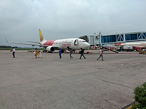 Lal Bahadur Shastri International Airport - Air India Express aircraft at Varanasi Airport
