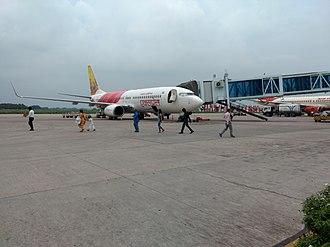 Lal Bahadur Shastri Airport - Air India Express aircraft at Varanasi Airport