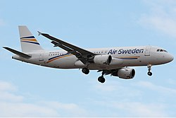 Airbus A320-200 der Air Sweden