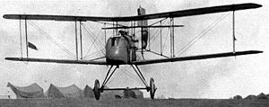 Airco DH.2 - Early DH.2 taking off from airfield at Beauvel, France