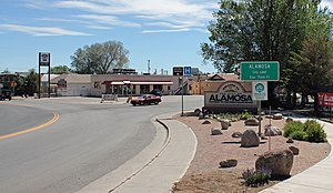 Alamosa, Colorado - Entering from the east