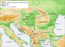 Albanians as a migrant Dacian people.png