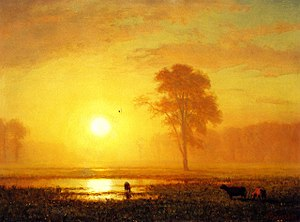 Spencer Museum of Art - Image: Albert Biertadt Sunset on the Plains