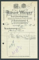 Albert Meyer Inhaber Hugo Julius Hof-Photograph Hannover Georgstraße 24 Rechnung für Visitenkarten Visit.jpg