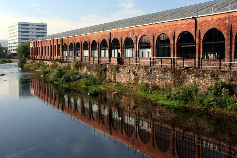 Albion Works reflection (geograph 3669975)