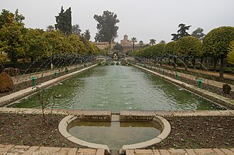 Alcázar - In the gardens of the Alcázar de los Reyes Cristianos in Córdoba, Andalusia.