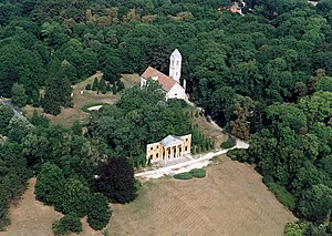 Archduke Joseph, Palatine of Hungary - Aerial view of the remains of his palace at Alcsútdoboz