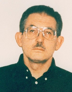 1995 CIA disinformation controversy - Mugshot of KGB mole Aldrich Ames, following his 1994 arrest.