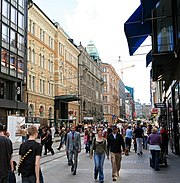 Aleksanterinkatu, a commercial street.