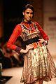 Alesia Raut in Ritu Kumar's ensemble at Lakme Fashion Week at Grand Hyatt Mumbai, by SouBoyy, Sourendra Kumar Das..jpg