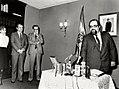 Alfonso Guerra asiste al acto de la toma de posesión del nuevo delegado del Gobierno en Cataluña. Pool Moncloa. 4 de enero de 1983.jpeg