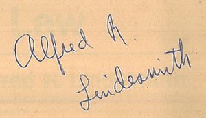 Alfred R. Lindesmith - Image: Alfred R Lindesmith signature
