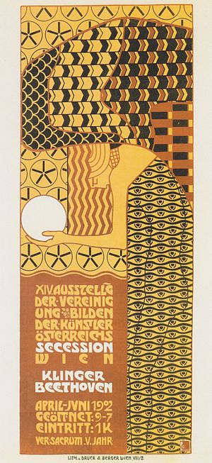 Alfred Roller - Alfred Roller (1902), poster for the 14th exhibition of the Viennese Secession