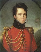 Alfred de Vigny, âgé de 17 ans, en uniforme de la Maison du Roi (F.J. Kinston)