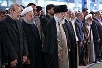 Ali Khamenei Praying for Ayatollah Hashemi Shahroudi07.jpg