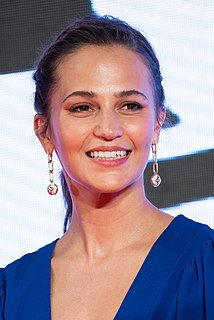 Alicia Vikander Swedish actress