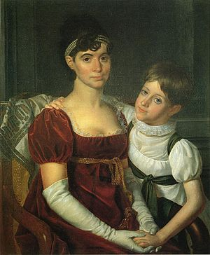 John Armstrong Jr. - Alida Livingston Armstrong and Daughter, Rembrandt Peale, ca. 1810