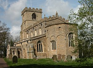 Wing, Buckinghamshire - Image: All Saints Church Wing 2