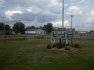 Allerton, Illinois - The southwest side of Allerton