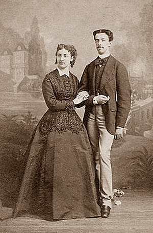 Amadeo I of Spain - The Duke of Aosta with his first wife, Maria Vittoria dal Pozzo.