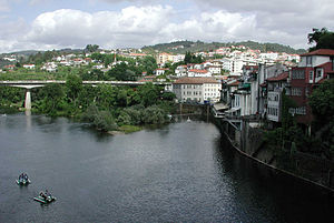 Amarante, Portugal - Amarante on the bank of the Rio Tâmega.