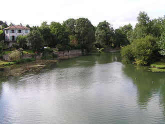 Ambérac - The Charente at Ambérac