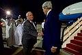 Ambassador Joseph Westphal Greets Secretary John Kerry at Jeddah International Airport (26920503462).jpg