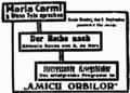 Amicii Orbilor ft Wenn Tote sprechen (Maria Carmi) and revue by A. de Herz, Bukarester Tagblatt Sept 1917.png