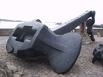 Anchor - Anchor of the Amoco Cadiz in Portsall, north-west Brittany, France
