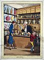 An interior of a stylish pharmacy with the pharmacist servin Wellcome M0018898.jpg