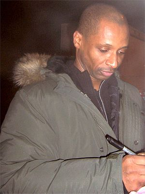 Andy Abraham - Abraham signing autographs at The X Factor