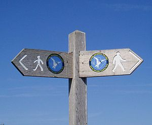 Anglesey Coastal Path - The coastal path signpost