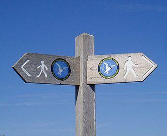 Anglesey Coastal Path - The coastal path signpost