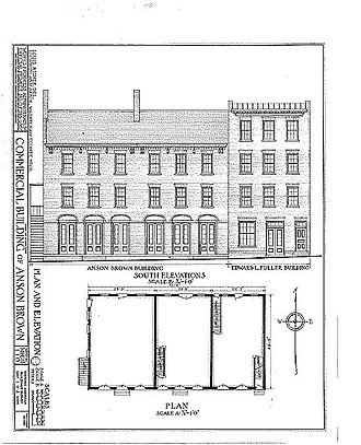 Anson Brown Building - Image: Anson Brown Building Drawing