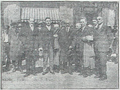 Ante Pavelić and Gustav Perčec with the Macedonian National Committee in fron of Union Palace Hotel in Sofia, 20 April 1929.png