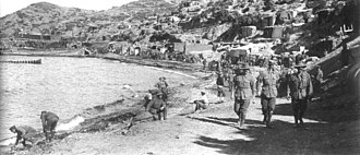 ANZAC Cove - Anzac Cove looking towards Arıburnu, 1915