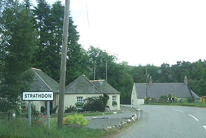 How to get to Strathdon with public transport- About the place