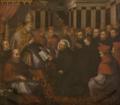 Aprovação da Companhia de Jesus pelo Papa Paulo III (c. 1640) - Domingos da Cunha, o Cabrinha (Sé Nova, Coimbra).png