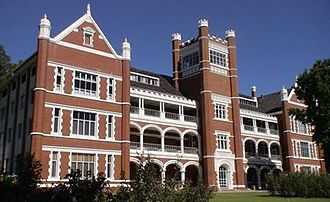 Aquinas College, Perth - The main building and the school's facade