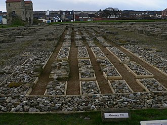 South Shields - Arbeia Roman Fort: ruins and reconstruction