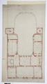 Arbetsritning, fastigheten nr 4 Hamngatan. Festvåningen - Hallwylska museet - 105264.tif