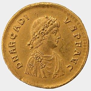 Arcadius - Solidus of Arcadius.
