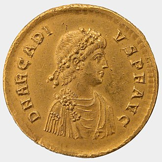 Yazdegerd I - Solidus of Arcadius.