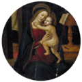 Arcangelo di Jacopo del Sellaio Virgen con Niño (transparent background).png